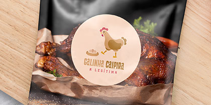 criação de marcas em Curitiba - galinha caipira