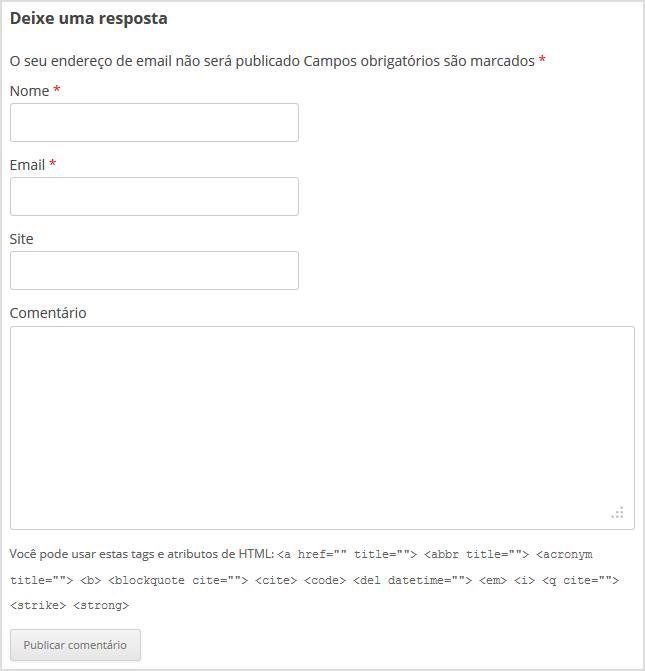 Comentar em posts no WordPress