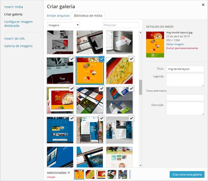 Inserir uma galeria de imagens no WordPress