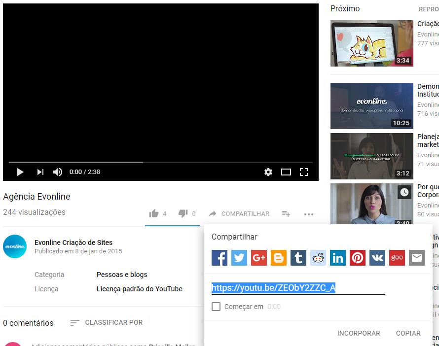 Incorporar YouTube